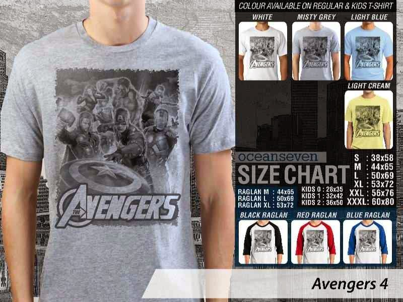 Jual Kaos Captain America hulk iron man thor 4 Avengers