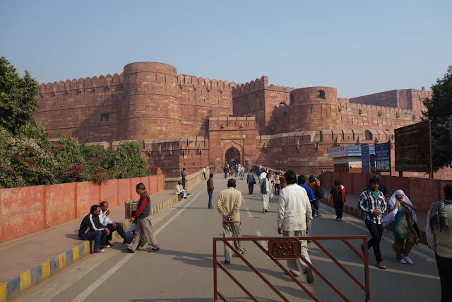 Entry gate to the Agra Fort.