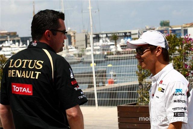 Эрик Буйе и Камуи Кобаяши на Гран-при Европы 2011