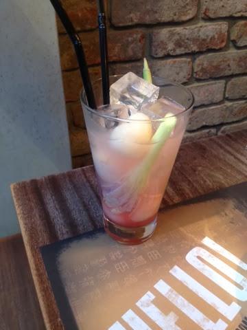 Lychee juice at Banana Tree restaurant, London