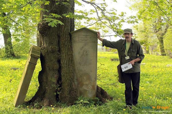 Leszek Marcinkowski na Cmentarzu Mennonicko-Ewangelickim w Fiszewie