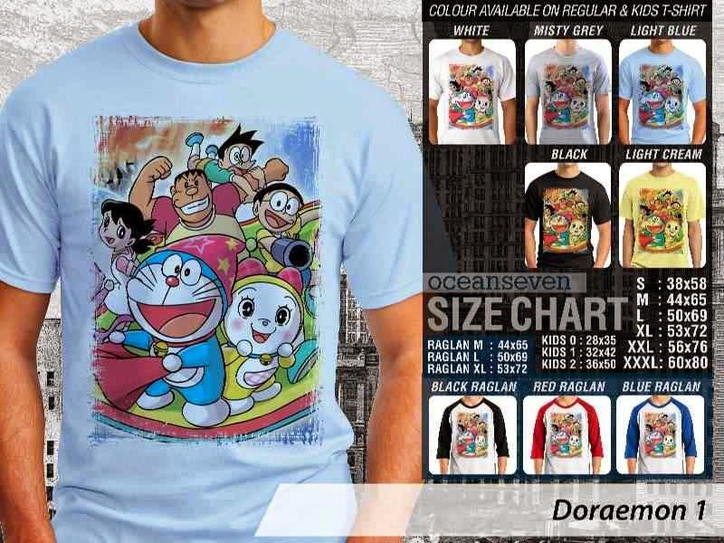 KAOS Doraemon 1 Manga Lucu distro ocean seven