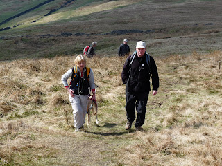 The final ascent to the top of Buckden Pike