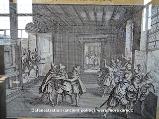 Defenestration (ancient politics were more direct)