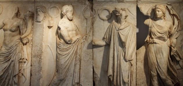 Sculptures from Aphrodisias Museum, Turkey