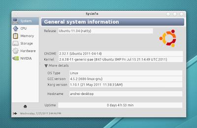 Sysinfo Ubuntu pantalla