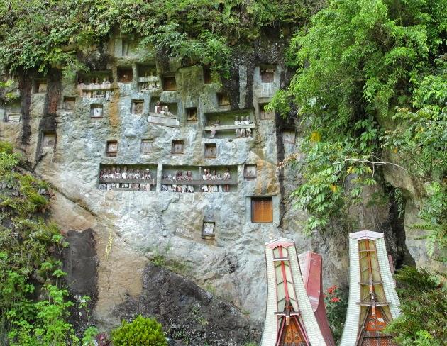 Famous Lemo Graveyard of Tana Toraja