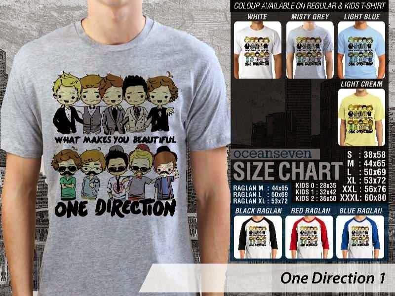 Jual kaos 1D One Direction 13 Musik Boy Band