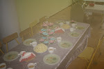 Urodzinowy stół w przedszkolu