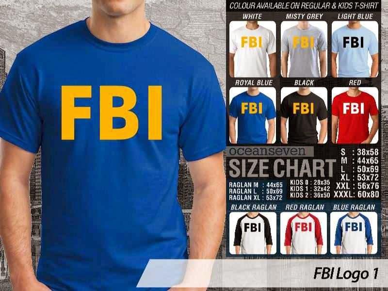 KAOS Militer FBI Logo 1 distro ocean seven