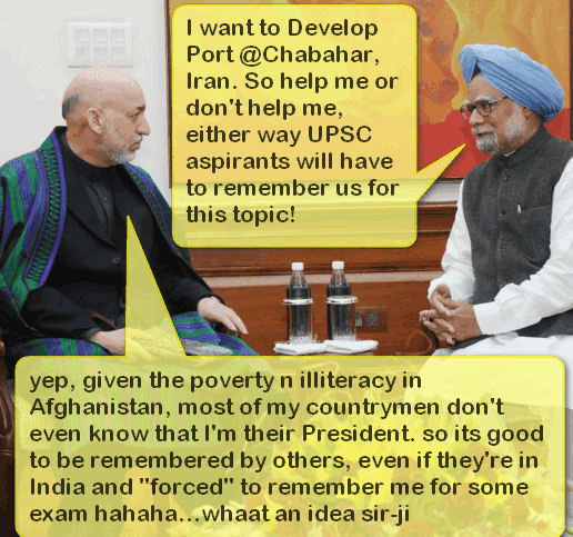 Mohan talking with Karzai