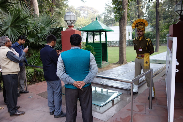 The location where Indira Gandhi was shot and killed by her own bodyguards.