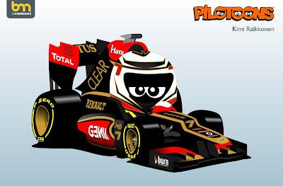 Кими Райкконен Lotus E21 pilotoons 2013