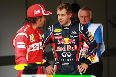 Фернандо Алонсо и Себастьян Феттель на Гран-при Великобритании 2011