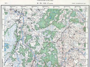 Russian old map O-35-118-D-nord