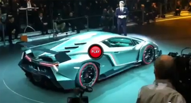 Lamborghini Veneno And Its Huge Rear Wing Officially Revealed See