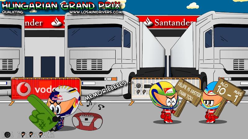 Los MiniDrivers по итогам квалификации на Гран-при Венгрии 2011