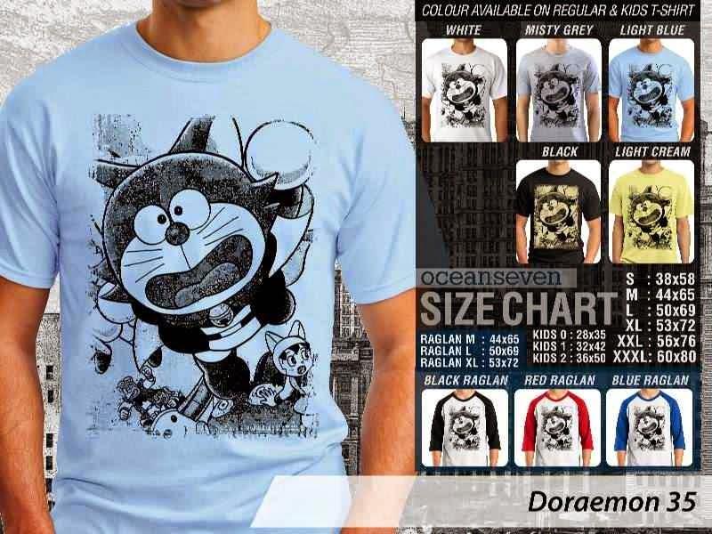 KAOS Doraemon 35 Manga Lucu distro ocean seven