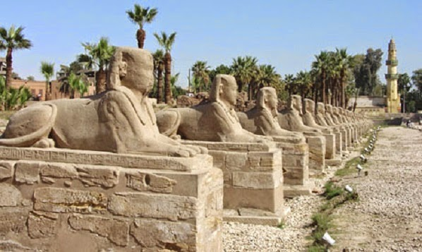 Heritage: Two sections of Luxor's Avenue of Sphinxes to open