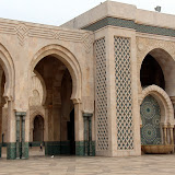 Outside the Hassan II Mosque - Casablanca, Morocco
