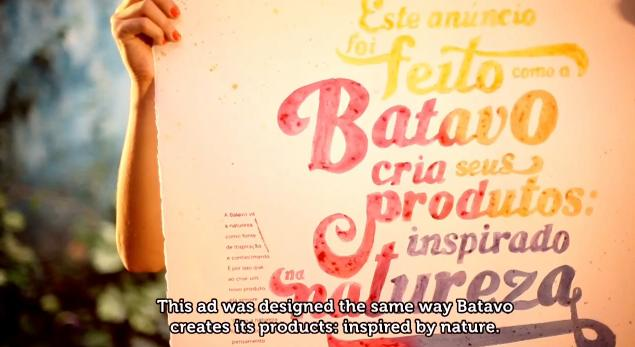 Inspired By Nature — Ink Made of Real Fruit for Batavo Dairy TV Spot