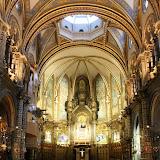The Basilica Interior - Montserrat, Spain