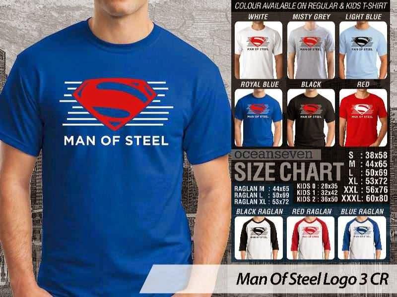 Kaos Superman Hitam Man Of Steel 42 Movie Series distro ocean seven