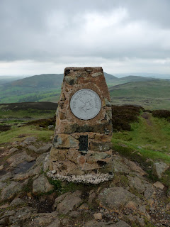 Gowbarrow Fell Summit Trig Pillar.