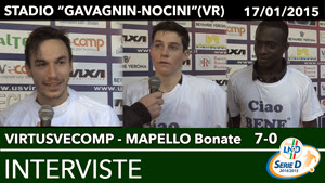 VirtusVecomp - Mapello Bonate del 17-01-2014