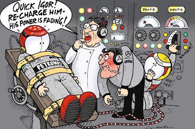 Михаэль Шумахер - комикс Jim Bamber