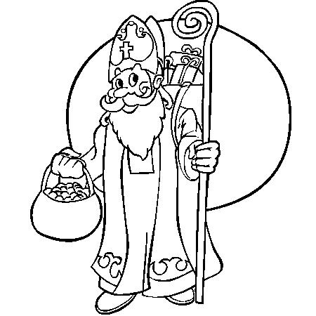 Dessin a colorier saint nicolas gratuit - Saint nicolas dessin couleur ...