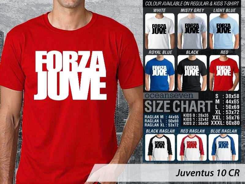 Kaos Bola Juventus 10 Lega Calcio distro