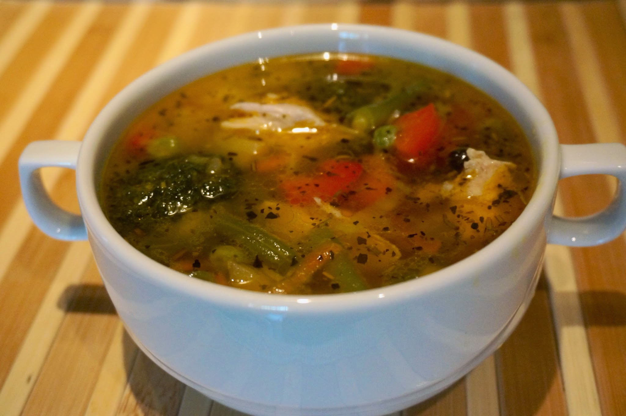 Суп из стручковой фасоли с курицей рецепт пошагово