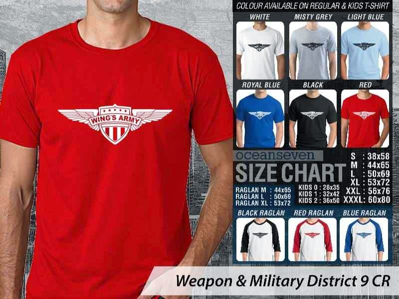 KAOS Militer Wings Army Weapon & Military District 9 distro ocean seven