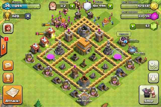 Top gaming tips clash of clans level 6 town hall defence strategy