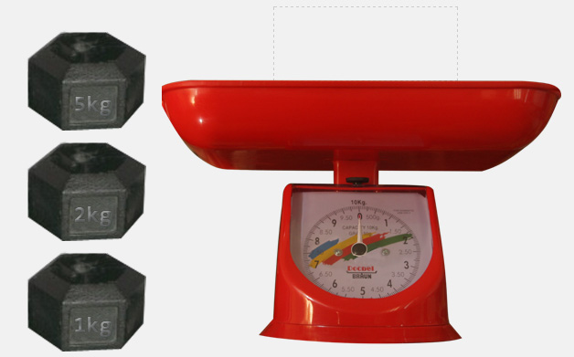 Weight scale using HTML5 drag & drop and CSS3 rotation