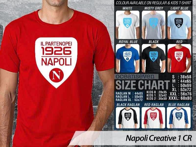 kaos bola bola Napoli 3 Lega Calcio distro ocean seven