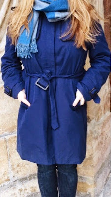 Trench coat bleu Jodhpur