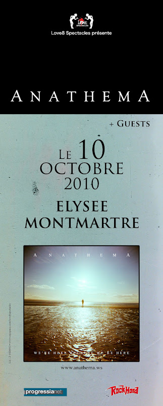 Anathema / Anneke Van Giersbergen / Petter Carlsen @ Elysée Montmartre, Paris 10/10/2010