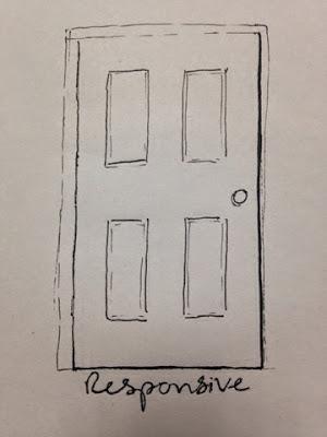 97 Hearts responsive door drawing