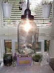 DIY jar swag light