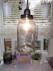 DIY jar swag light