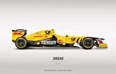 современный болид в раскраске Jordan EJ11 - Escape Artist Design