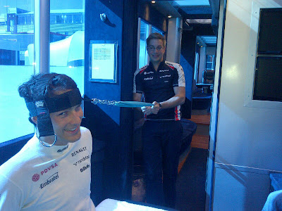 Бруно Сенна разогревается на Гран-при Венгрии 2012