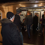 Nothing like making a mohawk entrance on the subway...I count 5 people staring in this picture