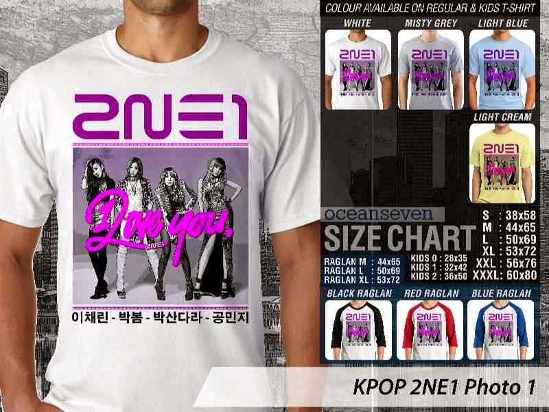 Kaos 2ne1 1 Photo K Pop Korea distro ocean seven