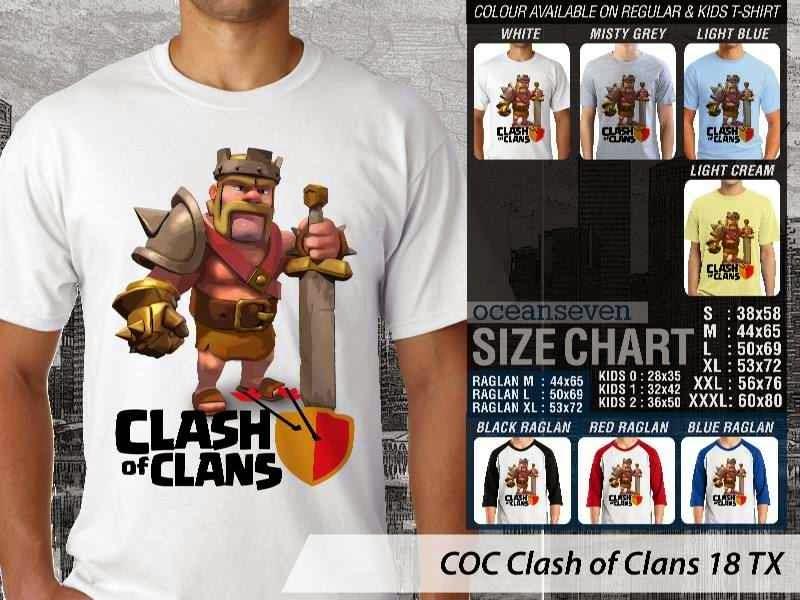 Kaos COC Clash of Clans 18 distro ocean seven