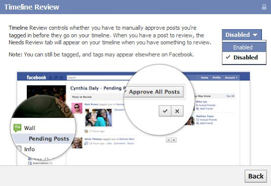 Get review before published photo on your timeline