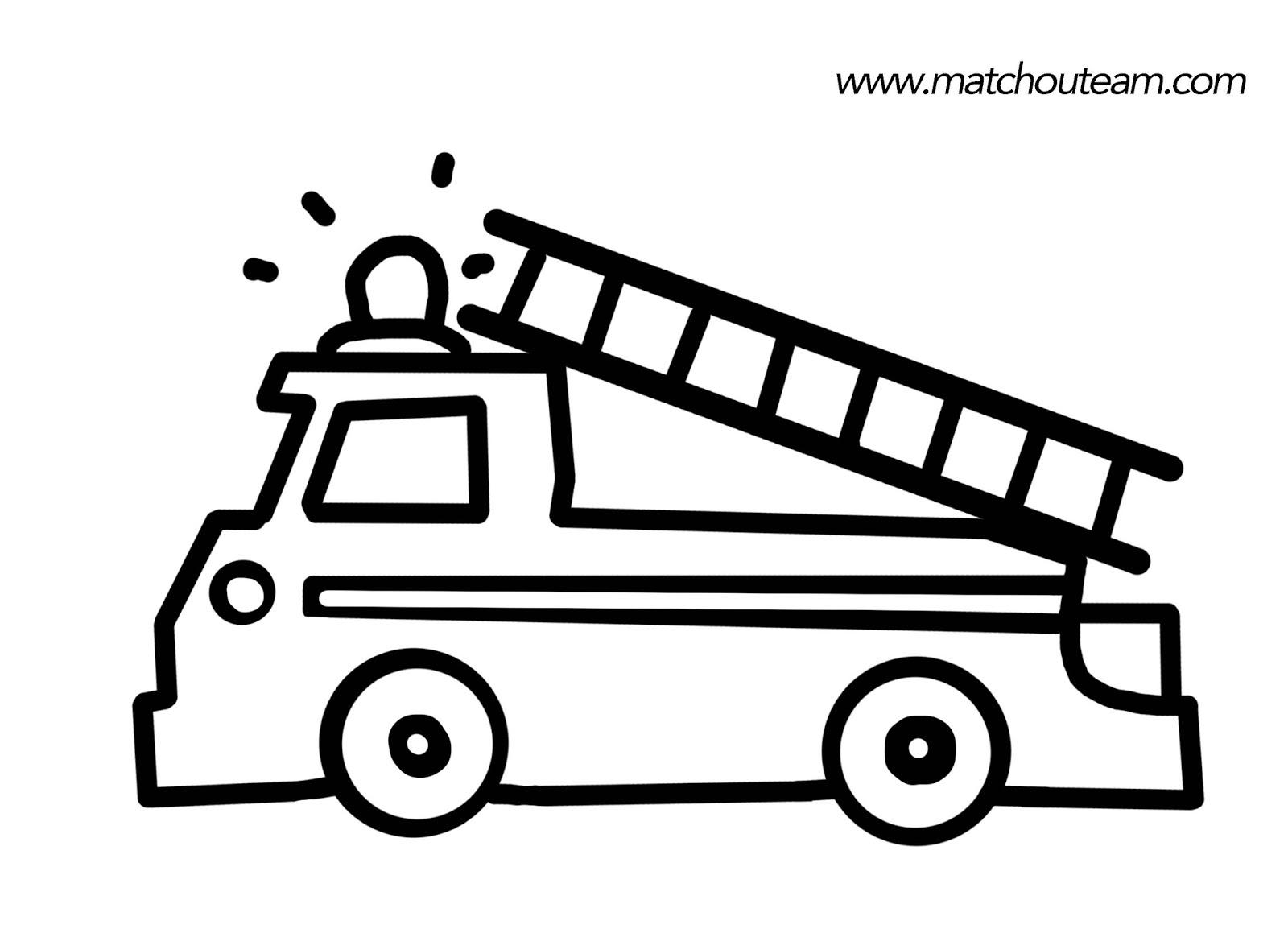 Dessin a colorier camion de pompier - Camion a colorier gratuit ...