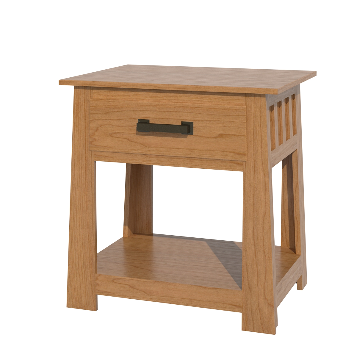Teton Nightstand With Shelves  Solid Wood Nightstand in the Teton ...